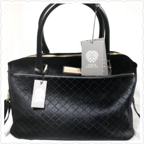 Vince Camuto Bags   Black Velvet Lullah Weekender Bag   Poshmark a3eeef4c65